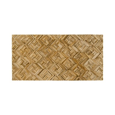 Panel rectangular madera reciclada