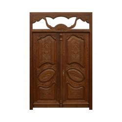 Puerta de madera de estilo señorial de dos hojas talladas Valencia