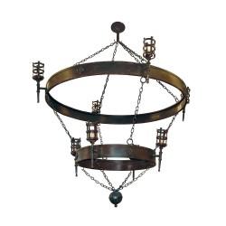 Lámpara de dos pisos con 12 luces