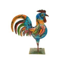 Gallo pequeño chapa colores