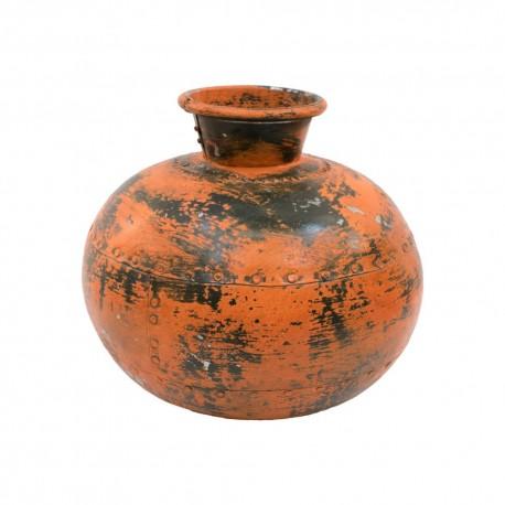 Jarrón hierro naranja