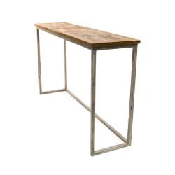 Consola industrial madera y forja