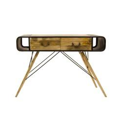 Consola industrial madera y mango