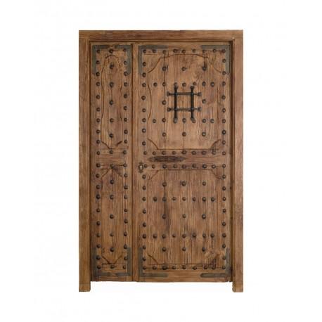 Puerta Castellana con fijo ciego