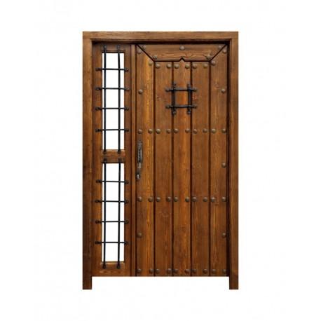 Puerta mozárabe con fijo