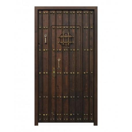 Puerta modelo Nazarí dorada con puerta interior
