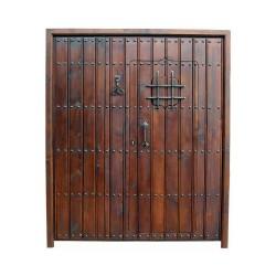 Puerta modelo Nazarí con puerta interior y fijo