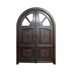 Puerta modelo Versalles con altillo acristalado