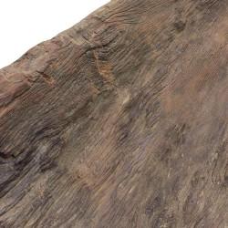 Pieza de madera  de teca antigua con forma semicircular