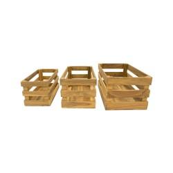 Caja de madera de listones
