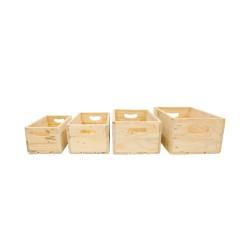 Set 4 cajas de madera