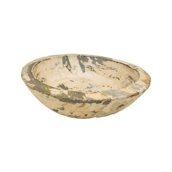 Plato de madera color crema