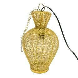 Lámpara con forma de ánfora dorada