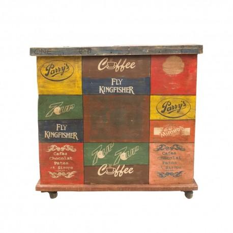 Arcón etiquetas vintage