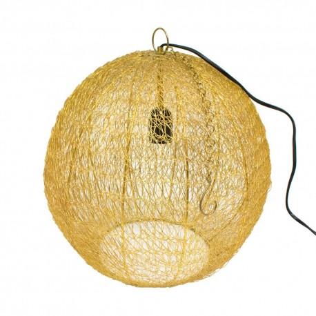 Lámpara con forma de bola dorada