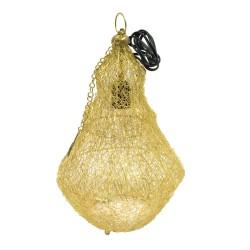 Lámpara con patas de bolitas dorada
