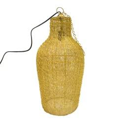 Lámpara en forma de cántaro dorada