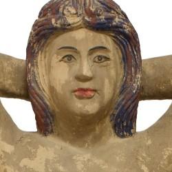 Mujer desnuda madera