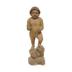 Figura de madera niño