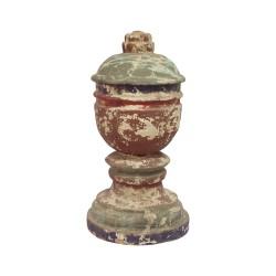 Copa de madera policromada