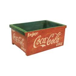 Caja de madera vintage Coca-Cola