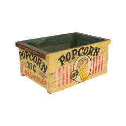 Caja de madera vintage Pop Corn