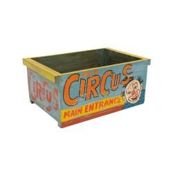 Caja de madera vintage Circus