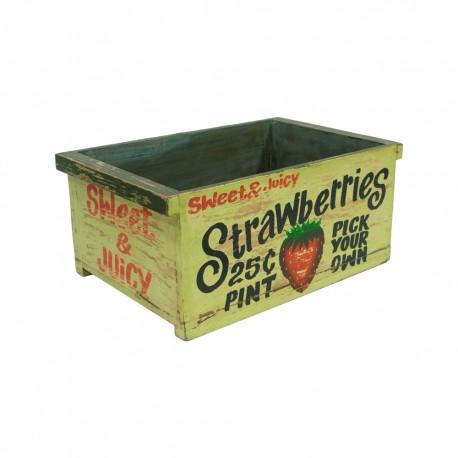 Caja de madera vintage Strawberries
