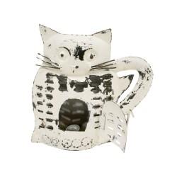 Candelabro gato de color blanco