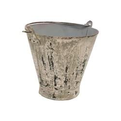 Cubo vintage gris