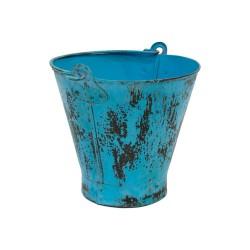 Cubo vintage azul