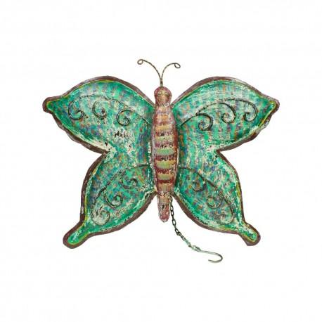 Mariposa de chapa verde y burdeos