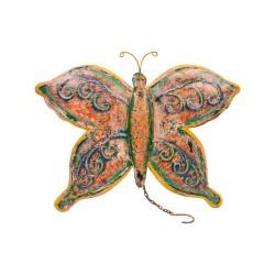 Mariposa de chapa multicolor