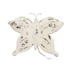 Mariposa de chapa blanca
