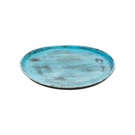 Bandeja de chapa vintage de color azul