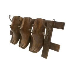 Perchero con forma de 3 hormas de zapato