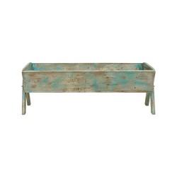 Artesa de madera color turquesa