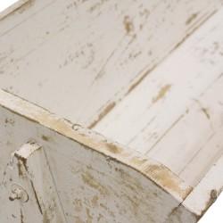 Artesa de madera color blanco