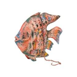 Candelabro pez metal pequeño