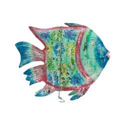 Candelabro pez metal mediano