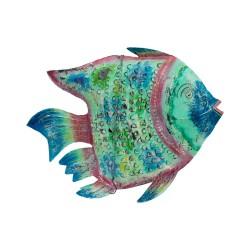 Candelabro pez metal grande