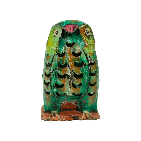 Candelabro búho verde mini