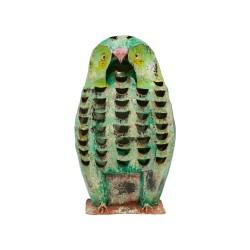 Candelabro búho verde grande