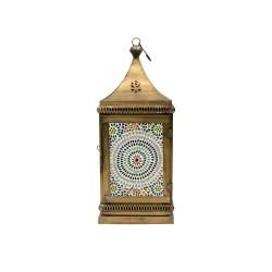 Farol chapa con mosaico mediano