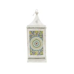 Farol chapa blanco con mosaico