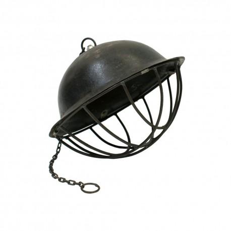 Lámpara casco acabado oscuro