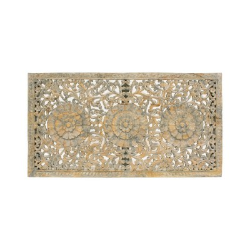 Mandala rectangular de madera calada