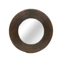 Espejo redondo madera