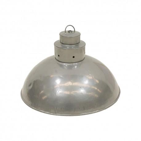Lámpara de metal gris