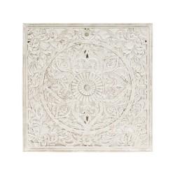 Mandala de madera cuadrado